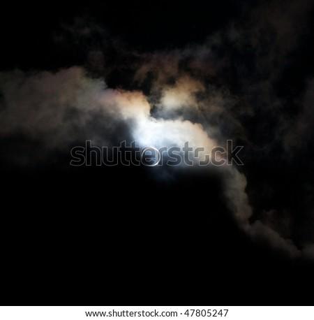 Full Sun Eclipse! - stock photo