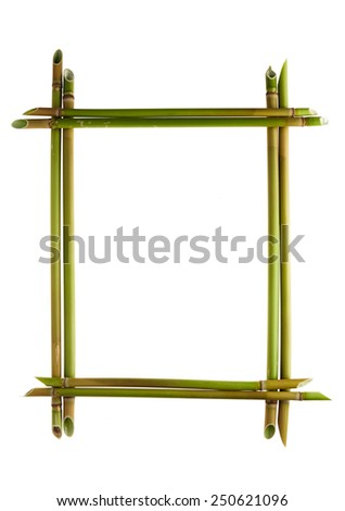 Fulminations frame isolated on white background. Reed stalks in the form of stacked frames.