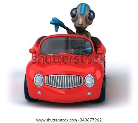 Fun alien - stock photo