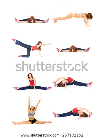 Fun and Exercise Stretching Muscles  - stock photo