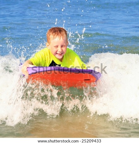 Fun at the beach - stock photo