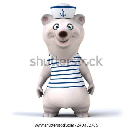 Fun bear - stock photo