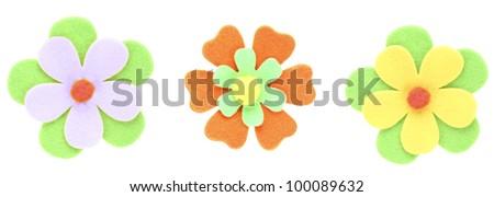 fun beautiful flowers  decorative paper - stock photo