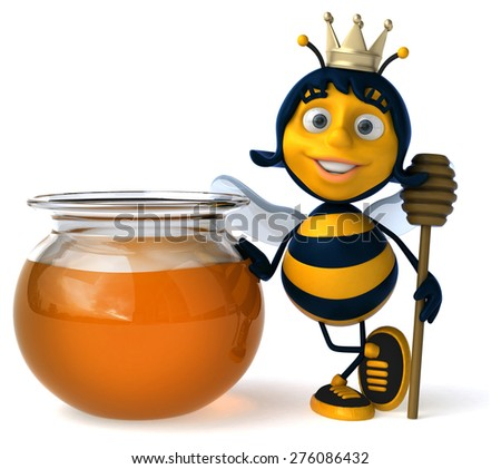 Fun bee - stock photo