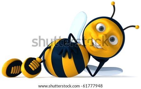 Fun bee - stock photo