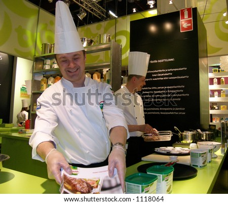Fun chefs - stock photo
