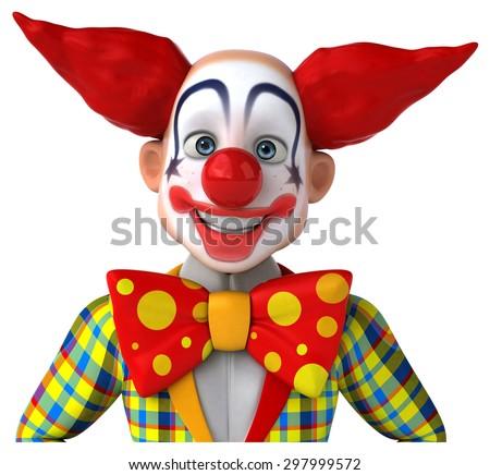 Fun clown - stock photo