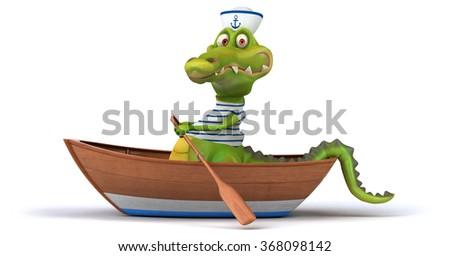 Fun crocodile - stock photo