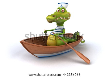 Fun crocodile - stock photo