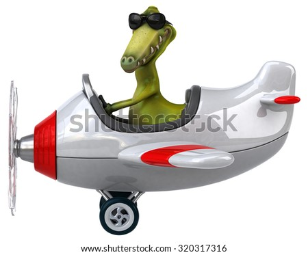 Fun dinosaur - stock photo
