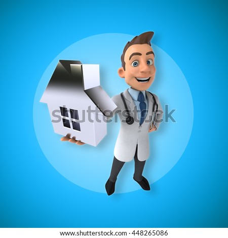 Fun doctor - stock photo
