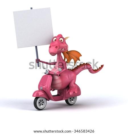 Fun dragon - stock photo