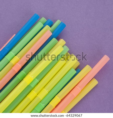 Fun Drinking Straws on a Vibrant.Background