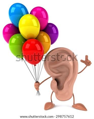 Fun ear - stock photo