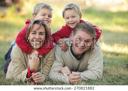 Fun Family Portrait - stock photo