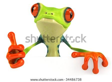 Fun frog - stock photo