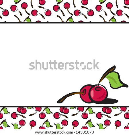 Fun Fruits cherry page layout in JPEG/TIFF format. (Image ID for vector version: 14214343) - stock photo