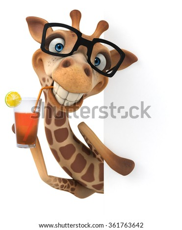 Fun giraffe - stock photo