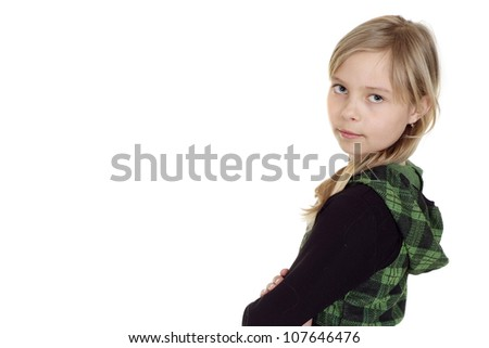 Fun girl showed herself in the photos in all her glory - stock photo
