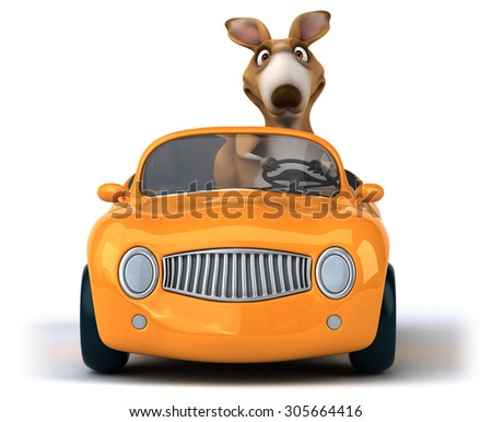 Fun kangaroo - stock photo
