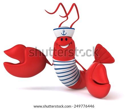 Fun lobster - stock photo