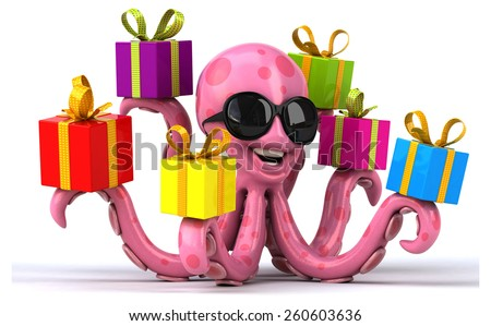 Fun octopus - stock photo