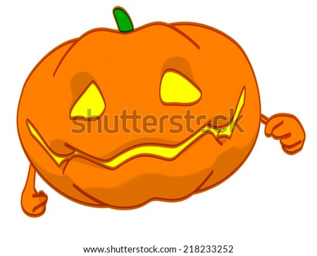 Fun pumpkin - stock photo