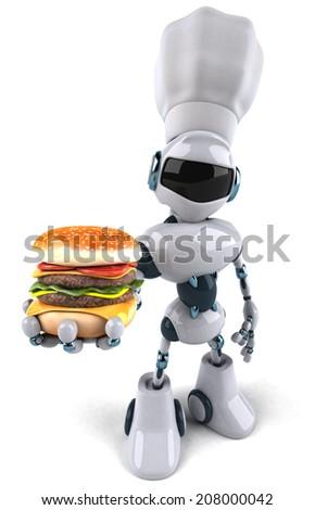 Fun robot - stock photo