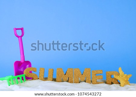 stock-photo-fun-summer-image-with-letter