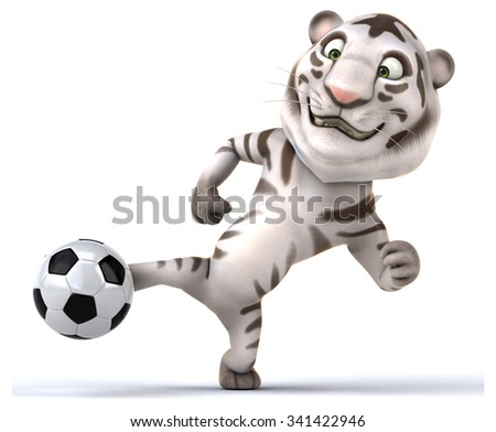 Fun tiger - stock photo