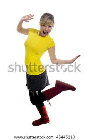 Fun Young Woman - stock photo