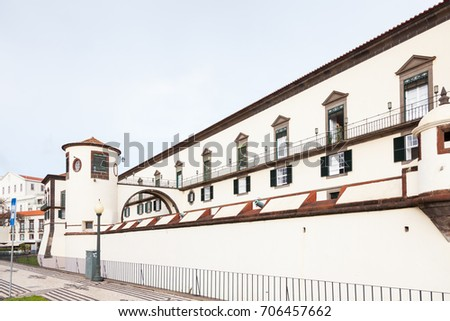 FUNCHAL, MADEIRA, PORTUGAL - NOVEMBER 3:  Saint Laurence Palace is pictured in Funchal on the Portuguese island of Madeira on November 3, 2016.  The palace hosts a military museum.