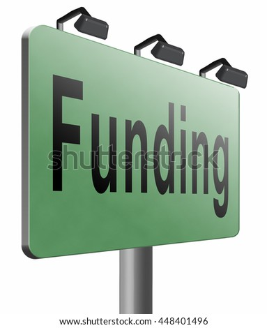 Funding for welfare collection fund raising for charity money donation for non profit organization, 3D illustration isolated on white.  - stock photo
