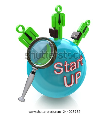 Funding Start-Up. Search money from investors for New Business  - stock photo