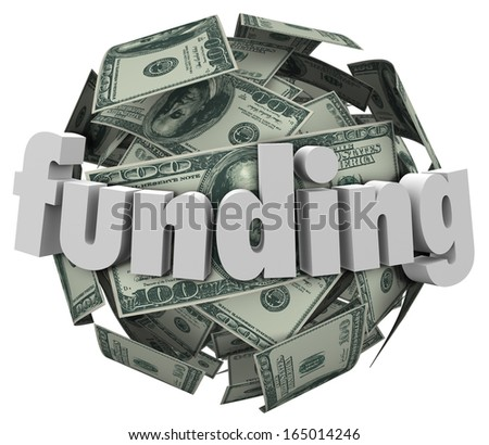 Funding Word Money Dollar Sphere Ball - stock photo