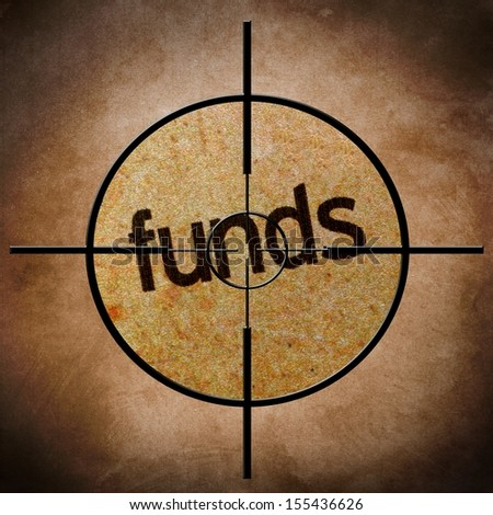 Funds target - stock photo