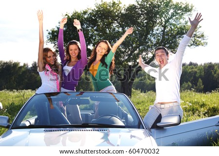 funey friends - stock photo