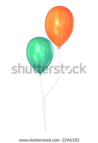 funky balloons - stock photo