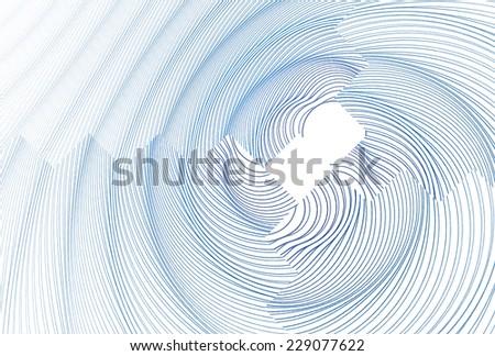 Funky blue zig-zag ripple design on white background - stock photo