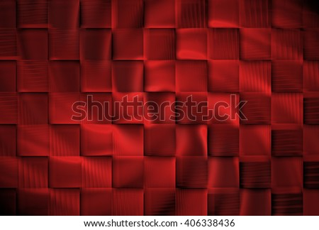 Funky copper / red abstract woven textured design on black background