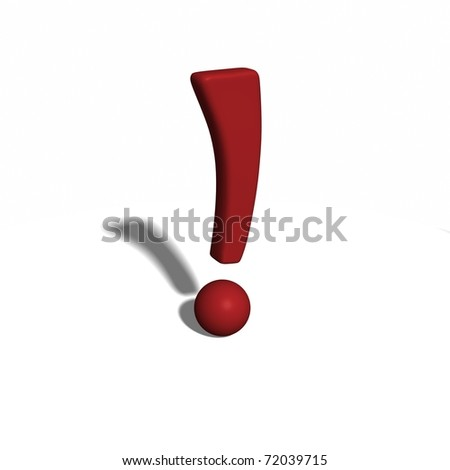 Funky 3D model of a exclamation mark, exclamation point - stock photo