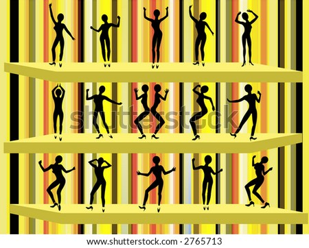 Funky Dancers 3 - stock photo