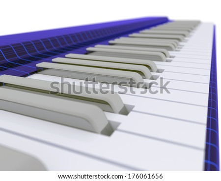 Funky music keyboard - stock photo