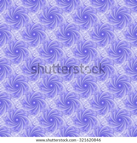 Funky purple abstract rotating flower design on white background (tile able)  - stock photo