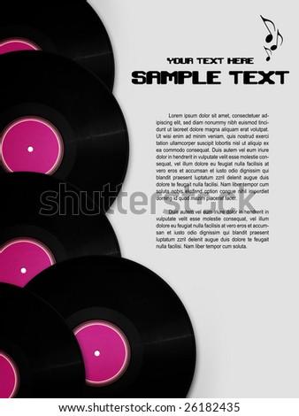 Funky retro music background - stock photo