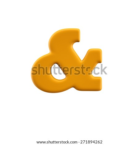 Funny alphabet character. Isolated on white background. - stock photo