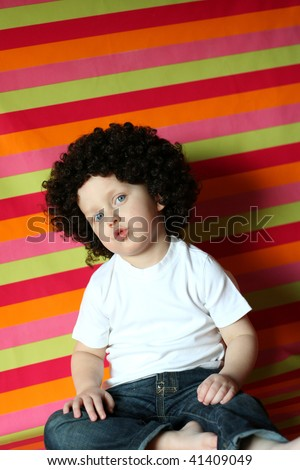 Funny boy - stock photo