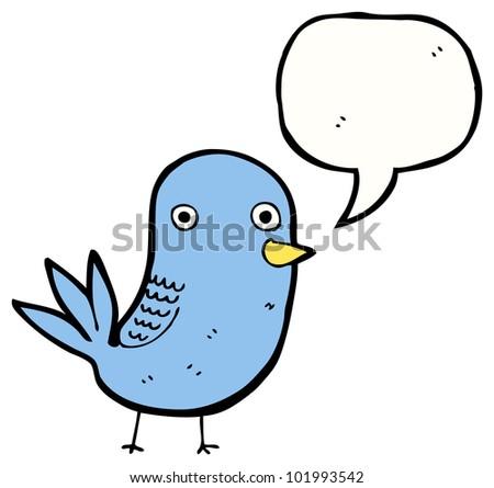 funny cartoon bird - stock photo