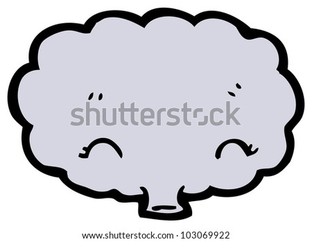 funny cartoon raincloud