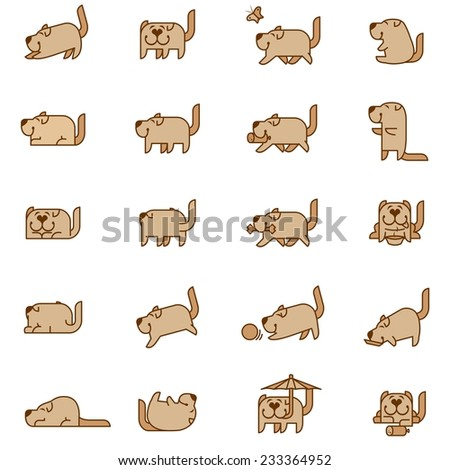 funny dog - stock photo